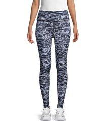 wear it to heart women's high-waist reversible leggings - dark denim - size m