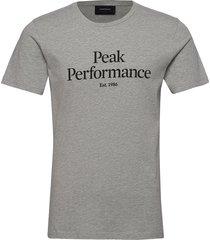 m original tee the alpine t-shirts short-sleeved grå peak performance
