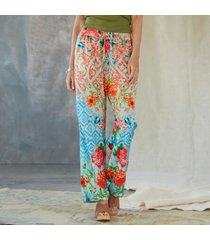 sundance catalog women's salt blossom pants in rose xs