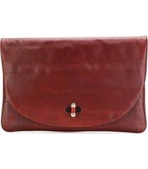 tommy hilfiger oversized clutch bag - marrom