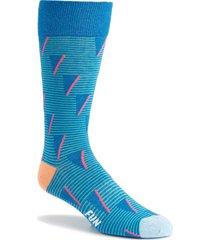 men's fun socks patterned socks, size one size - blue