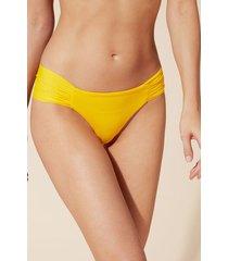 calzedonia indonesia drape brazilian bikini bottoms woman yellow size 3