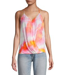 harlow sunset tie-dye halter top