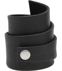 pulsera de mujer negro fascia medium leather collection vestopazzo