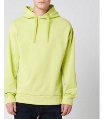 a.p.c. men's larry hoodie - green - xl