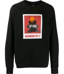 neil barrett blusa de moletom horror toys - preto