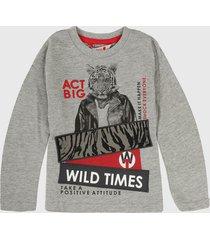 camiseta manga larga gris-rojo-blanco boboli