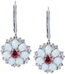 women's flower earrings in sterling silver