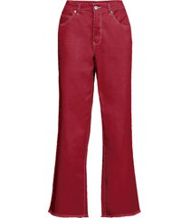 pantaloni con impunture a contrasto (rosso) - rainbow