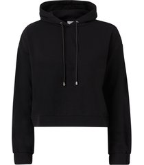 huvtröja visvilla l/s cropped hoodie