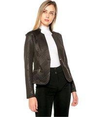 chaqueta grabados geometricos color negro charby ref. 176882