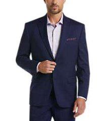 lauren by ralph lauren navy windowpane plaid classic fit suit