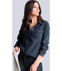 spijkerblouse alba moda dark blue