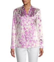 floral silk blend blouse