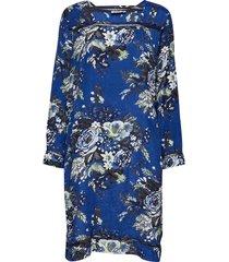 nasira dress knälång klänning blå masai