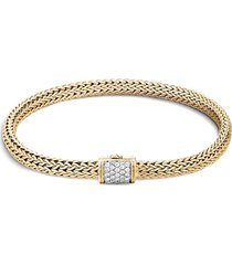 'classic chain' diamond 18k gold bracelet