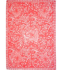victoria leopard head scarf - one red