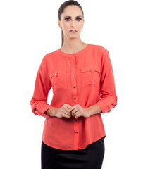 camisa love poetry gola redonda laranja - kanui
