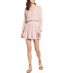 women's rails jasmine print long sleeve dress, size small - red