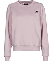 sweater converse womens embroidered star chevron crew bb