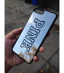 "black stylish shock defense love pink mirror case for apple iphone 7 plus, 5.5"""
