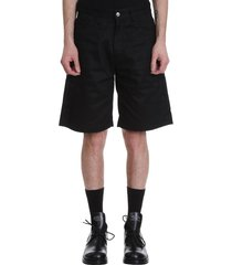 raf simons shorts in black cotton