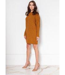 oversize'ovy sweter-tunika, swe135 musztarda