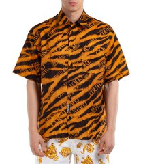 camicia uomo maniche corte tiger baroque