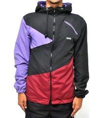 jaqueta corta vento dhg clothing premium viuva negra - preto/roxo/vinho - masculino - dafiti