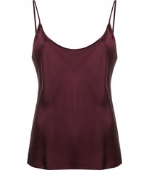 la perla scoop neck vest - red