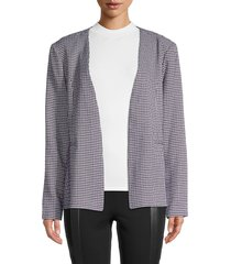 bcbgeneration women's checkered open blazer - black multi - size xs