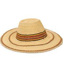 forte forte tassel-embellished wide-brim hat - neutrals