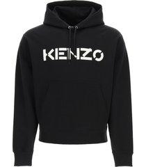 kenzo hooded sweatshirt with logo print