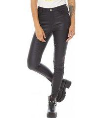 jeans engomado mujer negro corona