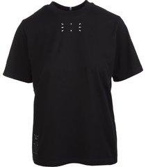 mcq alexander mcqueen black graphic-print t-shirt woman