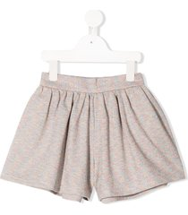 raspberry plum sweetie knitted wide-leg shorts - pink