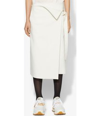 proenza schouler cotton blend suiting wrap skirt white 8