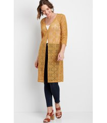 maurices womens crochet button front duster cardigan