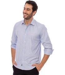 camisa aleatory manga longa plus masculina