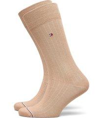 th men sock 2p rib underwear socks regular socks beige tommy hilfiger