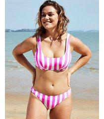 corsica underwire crop bikini top b-g