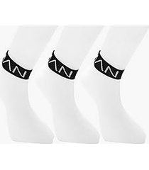 3 pack man trainer socks with black band