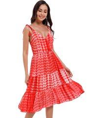 vestido tie dye coral nicopoly