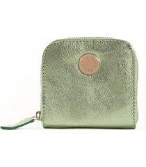 billetera de cuero verde merope prince