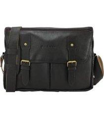 bolsa carteiro masculina para notebook em couro  9128 se