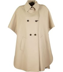 max mara bertone cotton gabardine cape coat