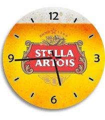 relã³gio de parede decorativo cerveja stella artois ãšnico - multicolorido - dafiti