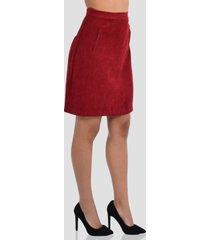 falda acampanada de mujer exotik ew172-1115-767 rojo