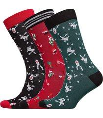 sock ankle bb fun santa xmas-bo underwear socks regular socks multi/mönstrad björn borg