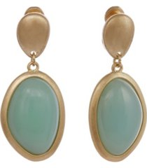 the sak gold-tone oval drop clip earrings